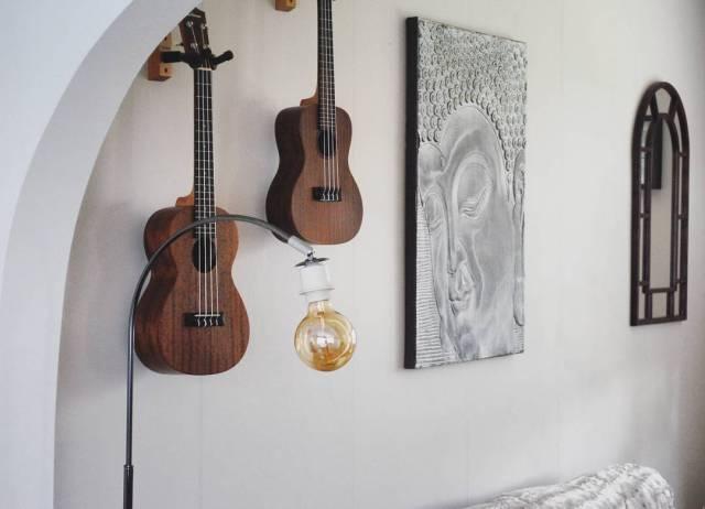 Ukuleles Hung On Wall
