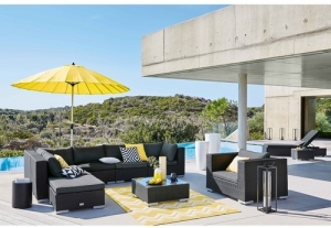 Maisons du Monde Papaye Parasol Yellow