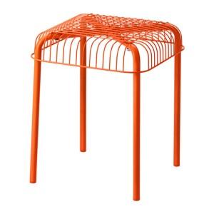 Ikea 'VÄSTERÖN' Orange Metal Stool