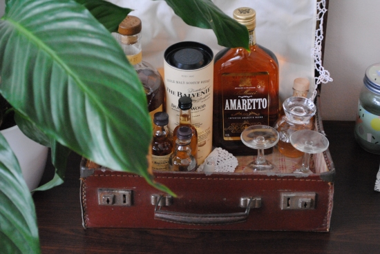 Suitcase Home Bar